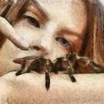 dorosła samica euscorpius tergestinus - ostatni post przez haczzyk